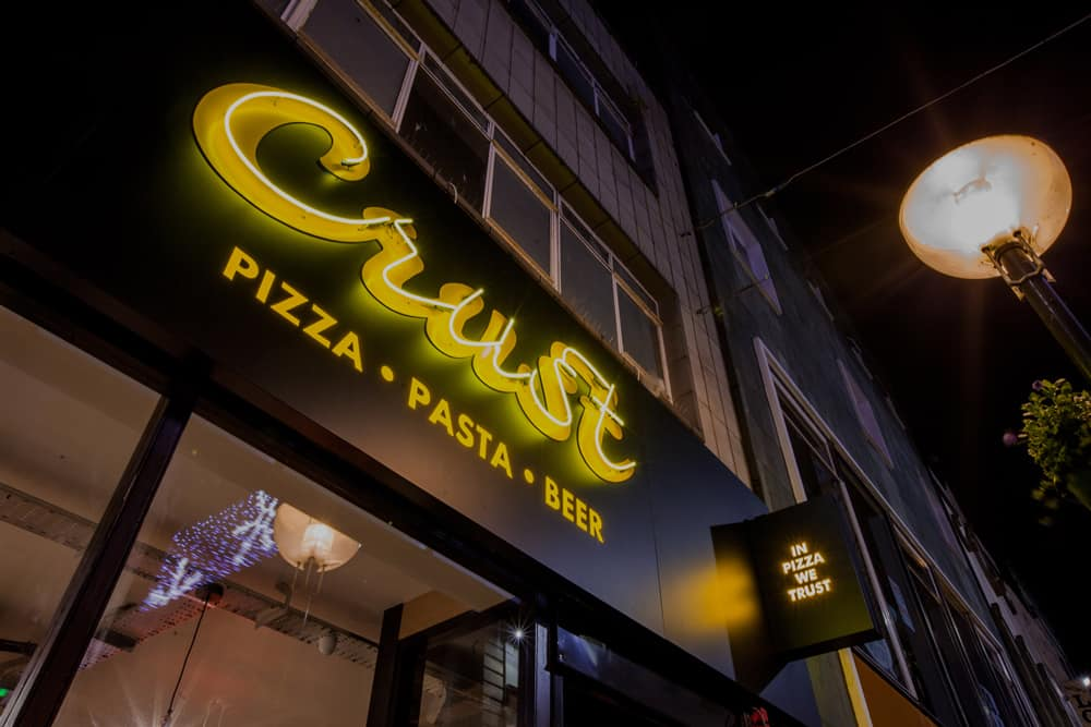 crust client neon sign liverpool
